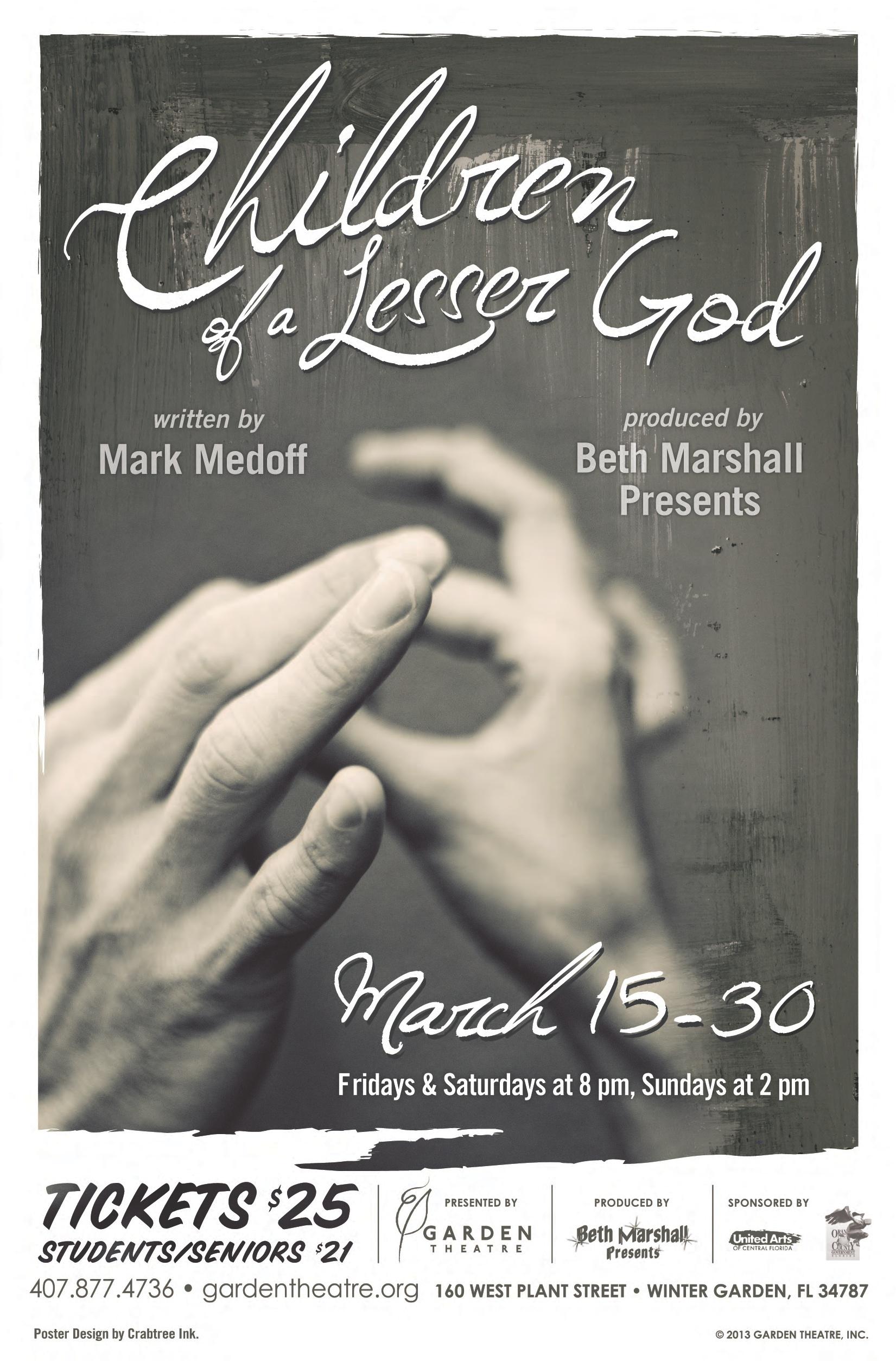 Children of a Lesser God | Beth Marshall Presents